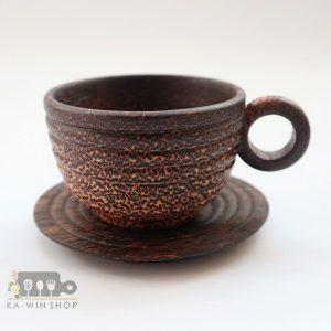 ถ้วยกาแฟไม้ตาล